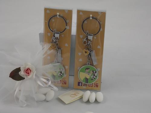 Bomboniere Wedding Portachive Schlüsselanhänger