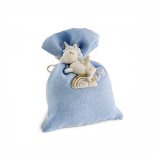 Bomboniere  -  Unicorno celste Einhorn blau