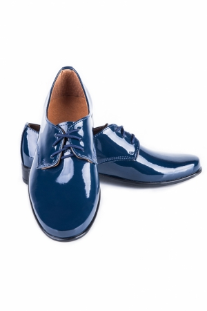 blauer Lacklederschuh Gr. 21-38