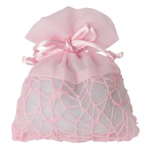 Mandelsäckchen rosafarbig moderne Struktur