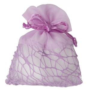 Mandelsäckchen lilafarbig moderne Struktur