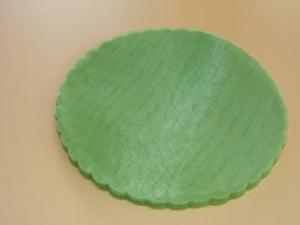 Rundtüll grün, 50 Stück