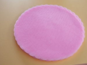 Rundtüll rosa, 50 Stück