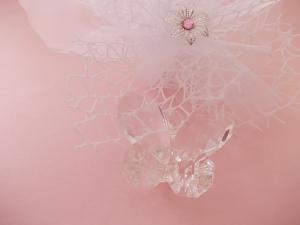 Bomboniere Gastgeschenk, Kristall Schmetterling als Komplettset
