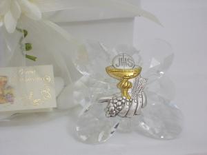 Bomboniere Kristalle mit Kelch zur  Kommunion