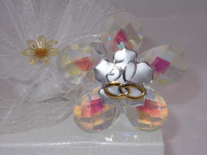 Bomboniere edle Kristalle zur Goldhochzeit