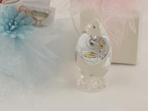 Bomboniere Kristalltropfen, Kristall mit Taufbecken