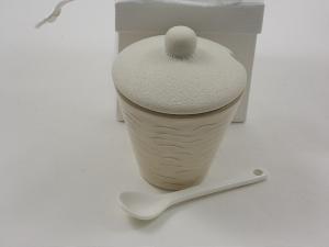Bomboniere Zuckerdose mit Zuckerlöffel