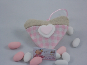 Gastgeschenk Bomboniere Collection Baby Cuore-Gesso