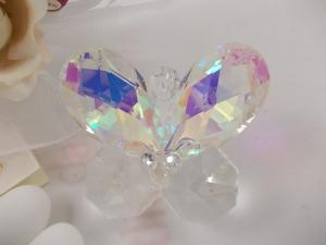 Bomboniere Gastgeschenk, hochwertiger Kristall Schmetterling
