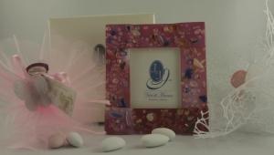 Bilderrahmen Murano rosa - Portafoto rosa